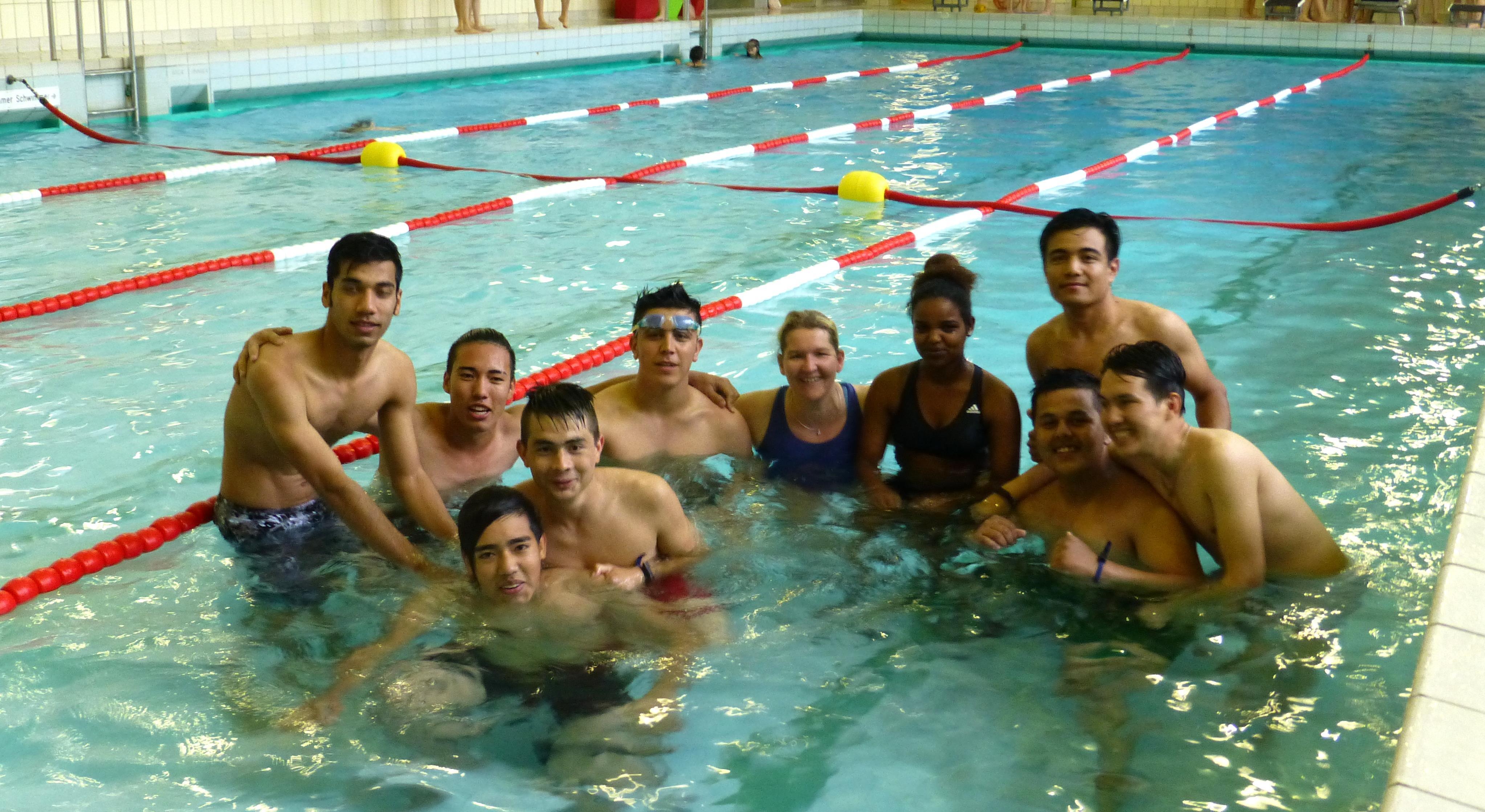 Schwimmkurse für Flüchtlinge